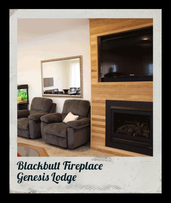 Blackbutt Fireplace, Genesis Lodge
